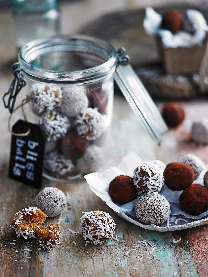 Assorted bliss balls
