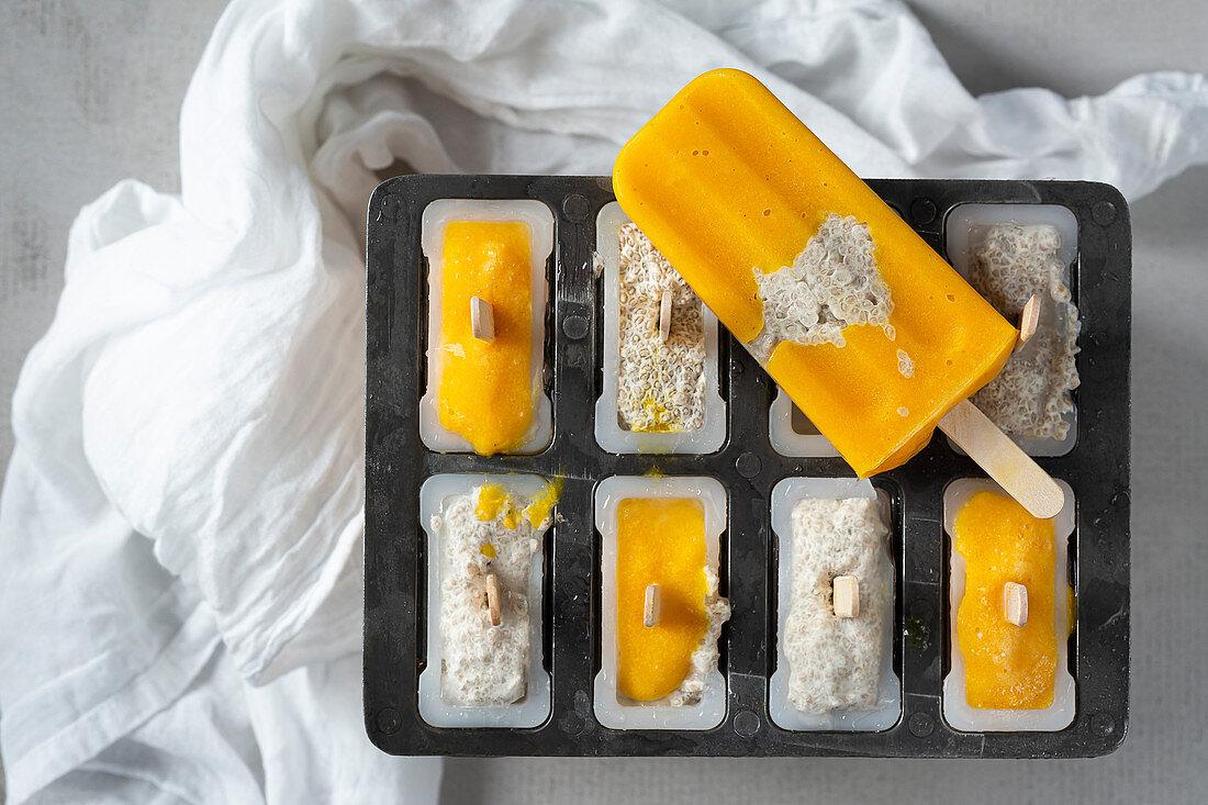Mango and Chia Iceblocks