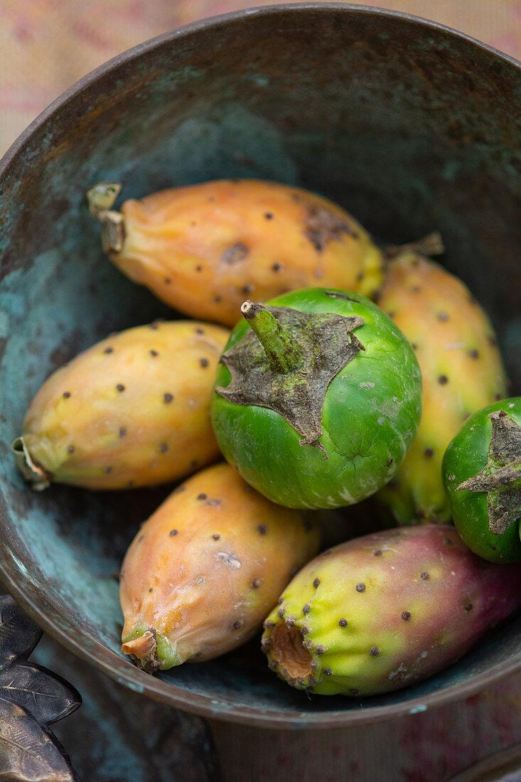 Cactus figs and Thai eggplants