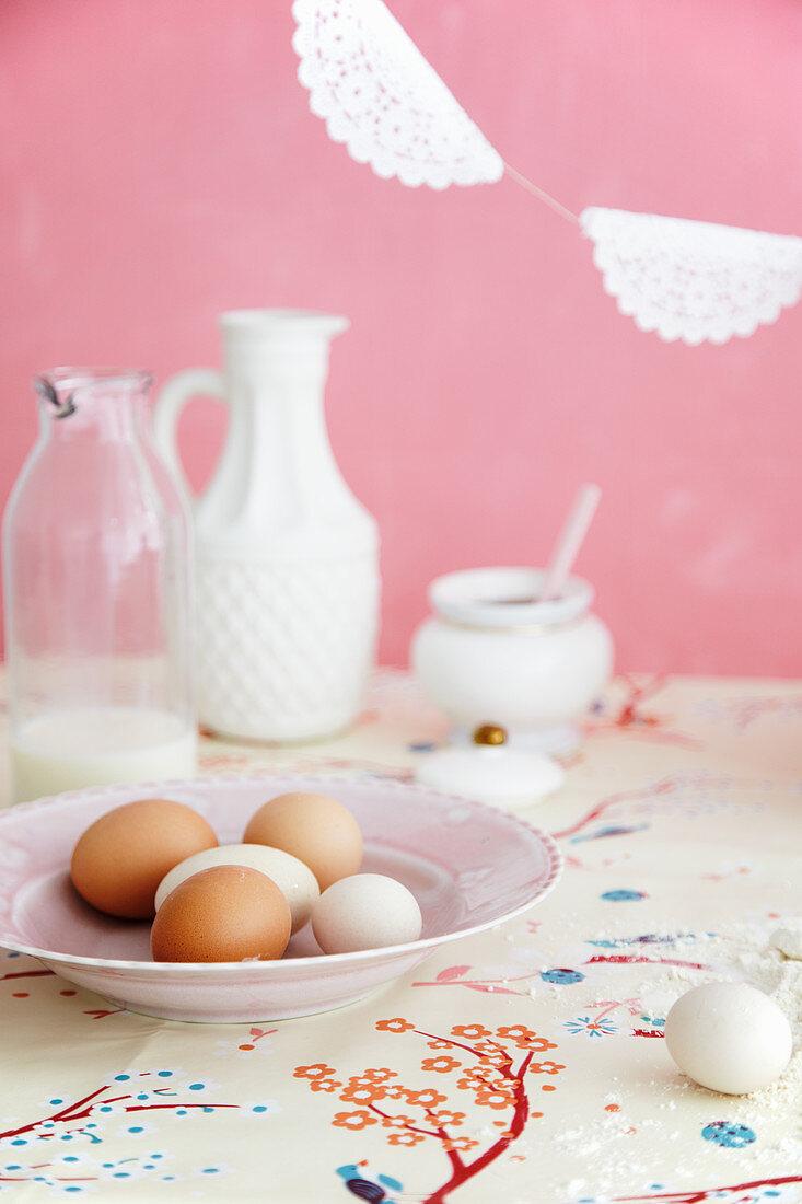 Fresh eggs for baking