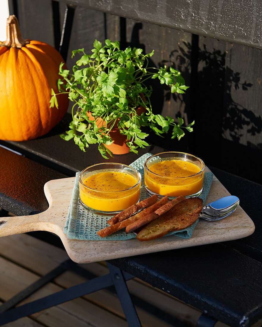 Sea buckthorn pumpkin soup