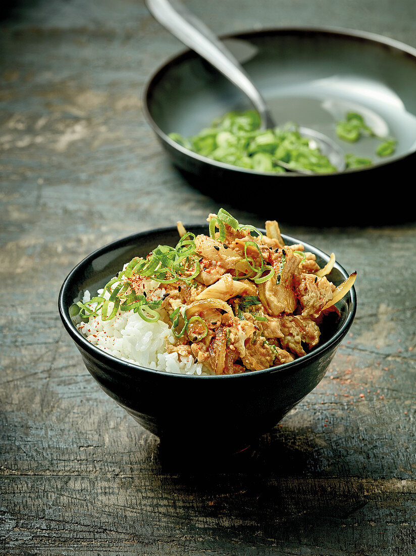 Oyakodon – Japanese rice bowl with chicken and egg