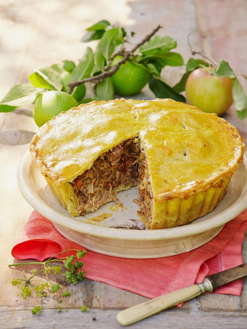 Apple and pork pie