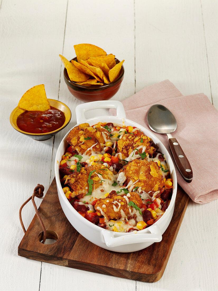 Tex-Mex chicken gratin
