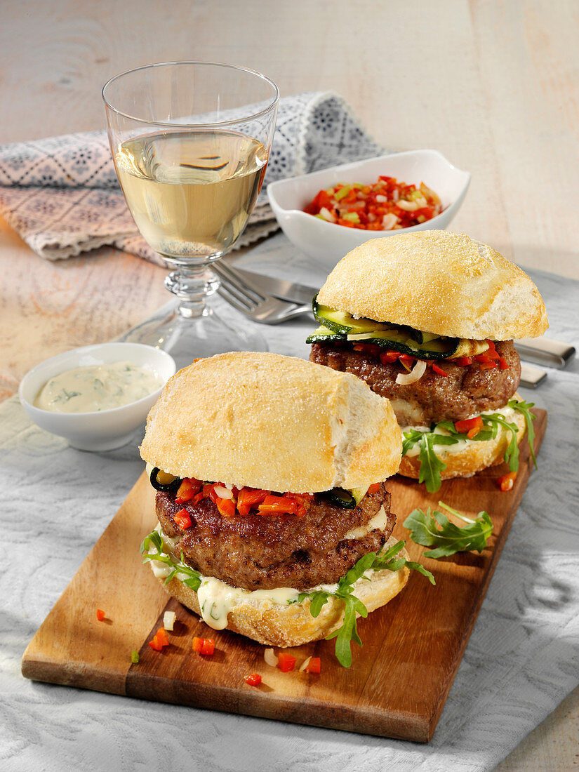 Italian Burger with Ciabatta