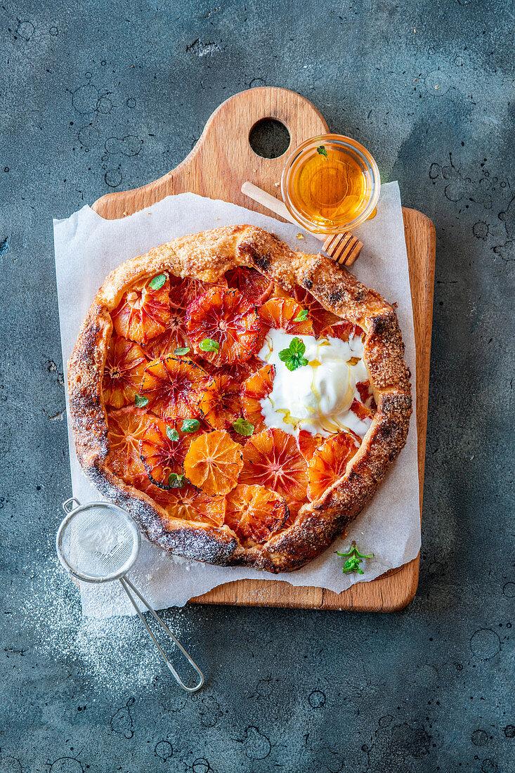 Blood orange pie