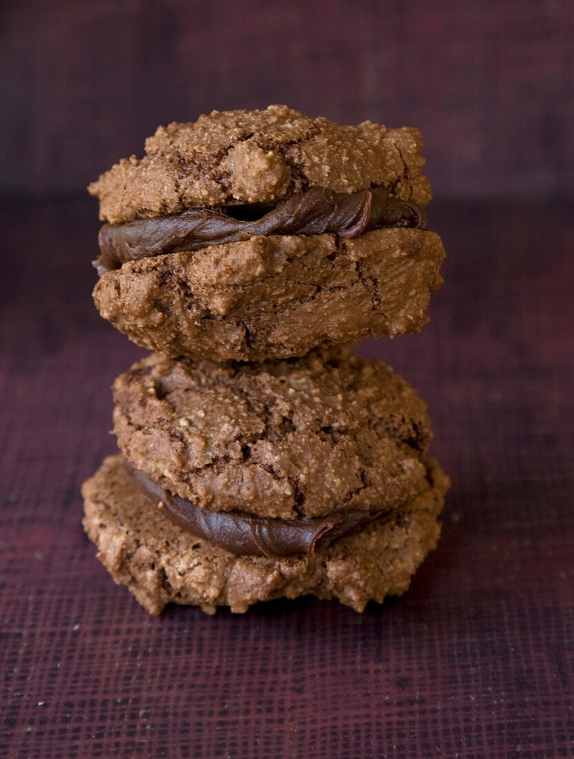Chocolate macaroon cookies