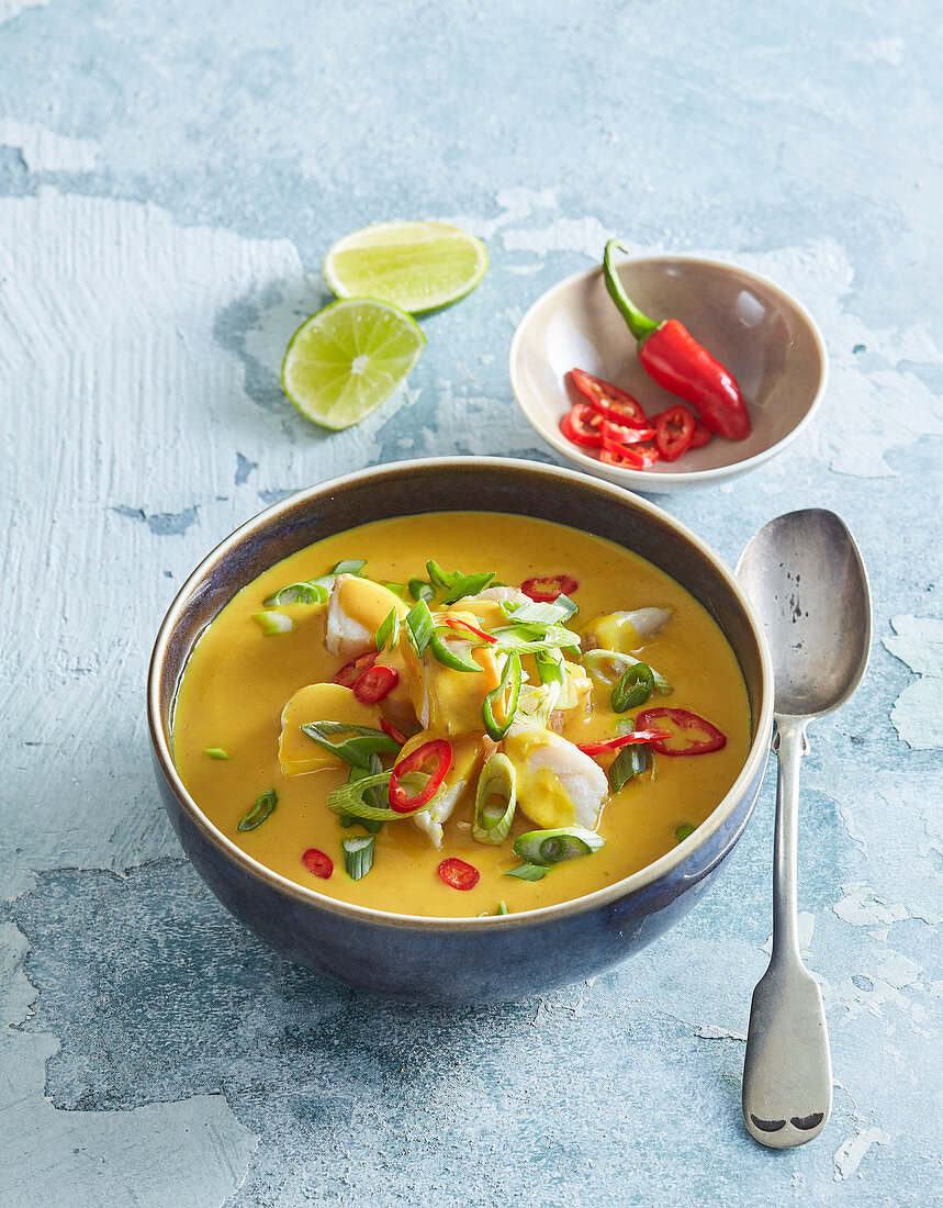 Cod curry Asian style