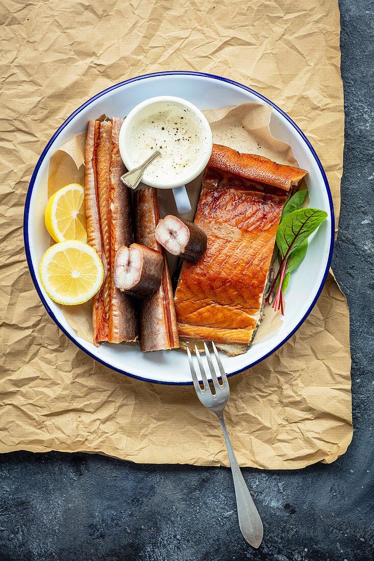Smoked fish - eel, halibut