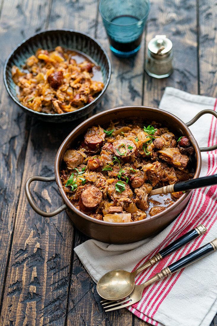 Bigos - Polish Hunter's Stew