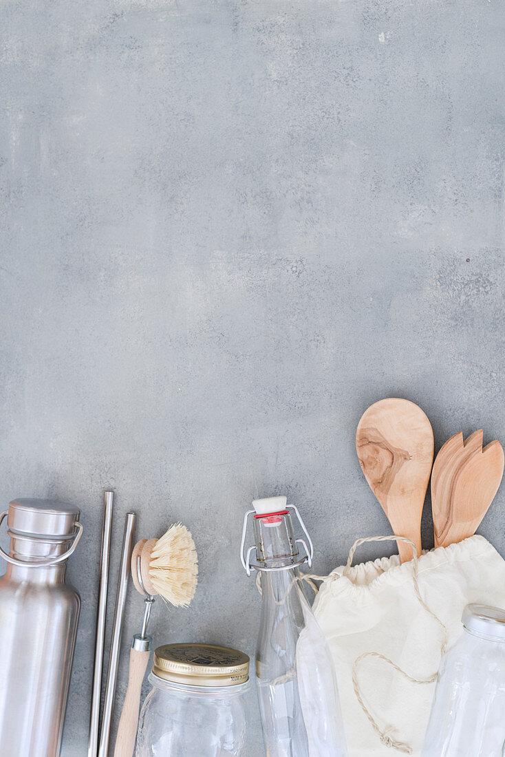 Zero waste and plastic-free kitchen utensils