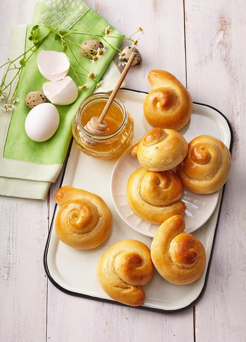 Easter honey Judas biscuits