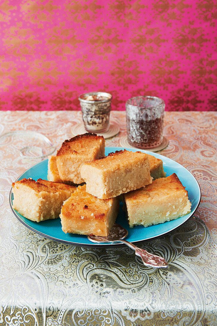 Moist semolina cake