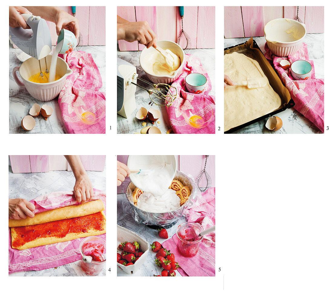 How to prepare a strawberry charlotte