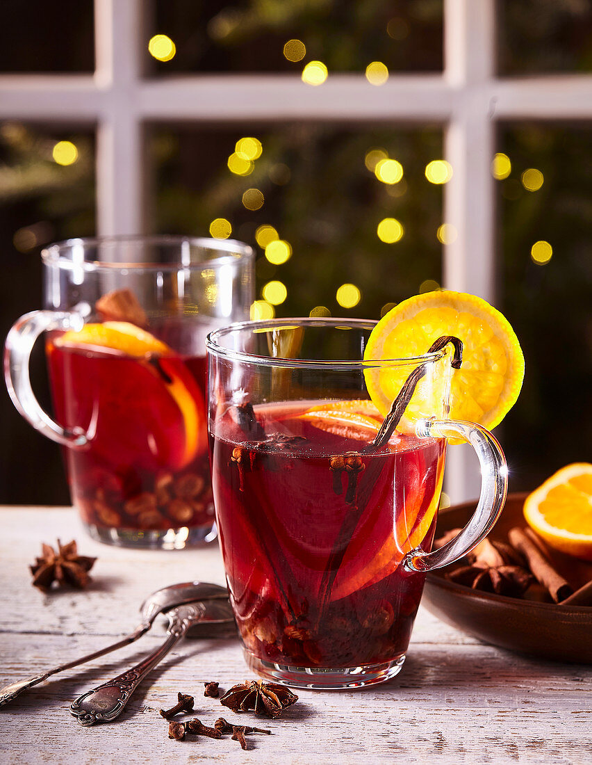 Punch with dried cranberries