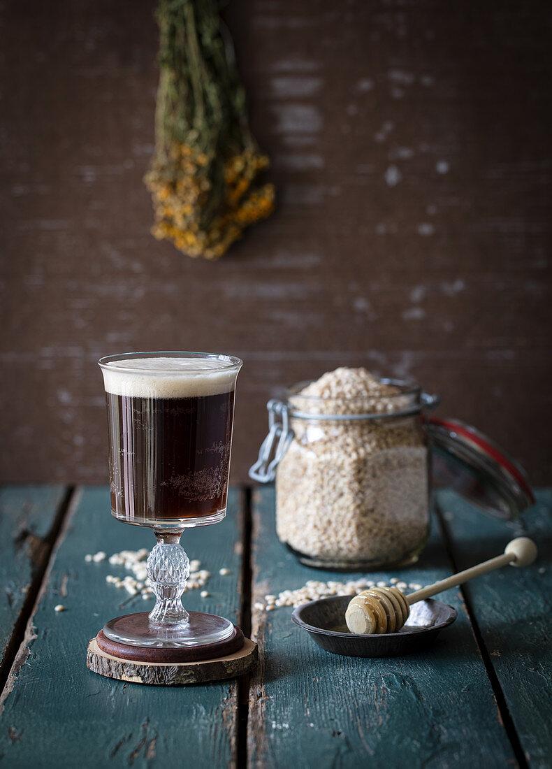 Kvass fermented Russian drink