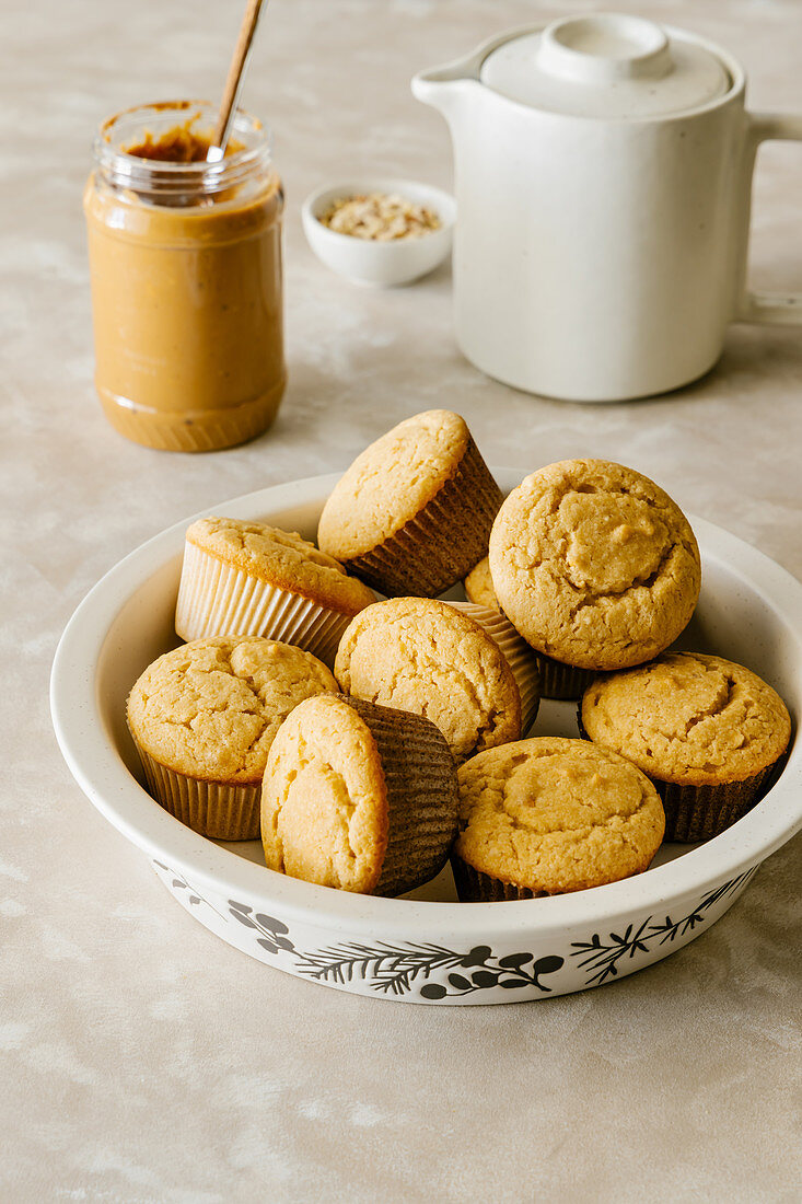 Peanut Butter Muffins with Crunchy Nut Pieces