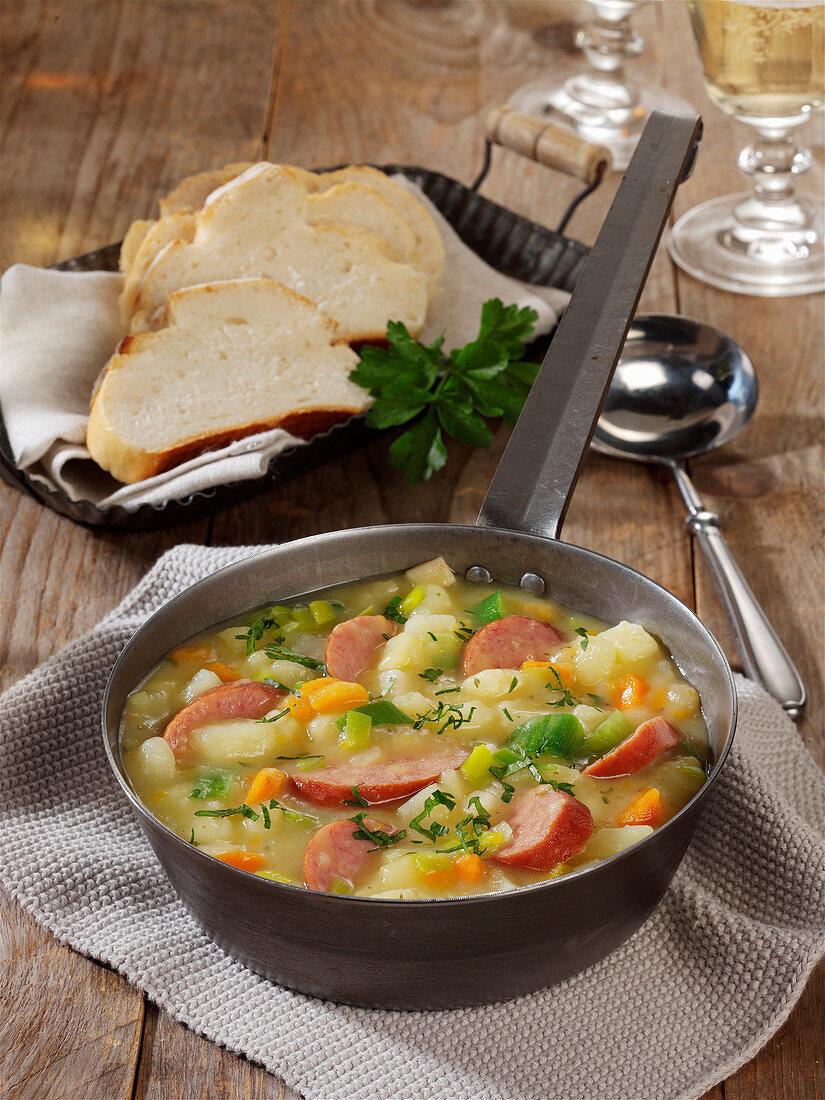 Potato stew with cabanossi