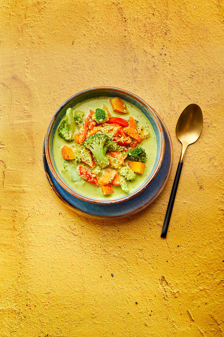 Indian green vegetable curry