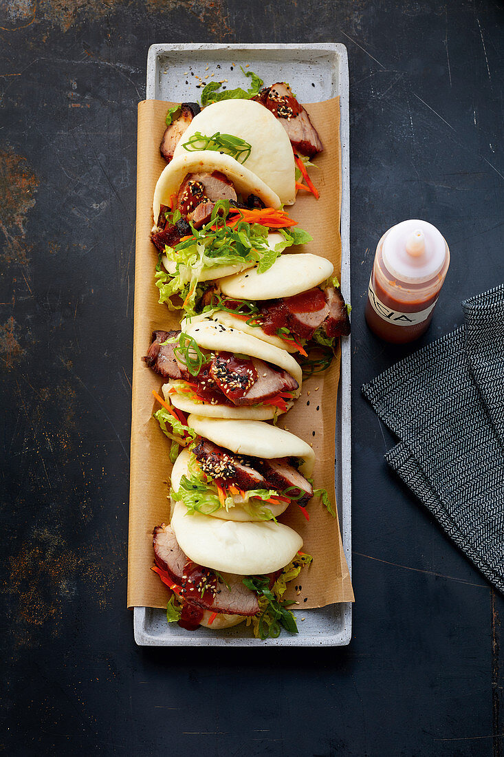 Char Sui Pork - Grilled pork shoulder in gua bao buns