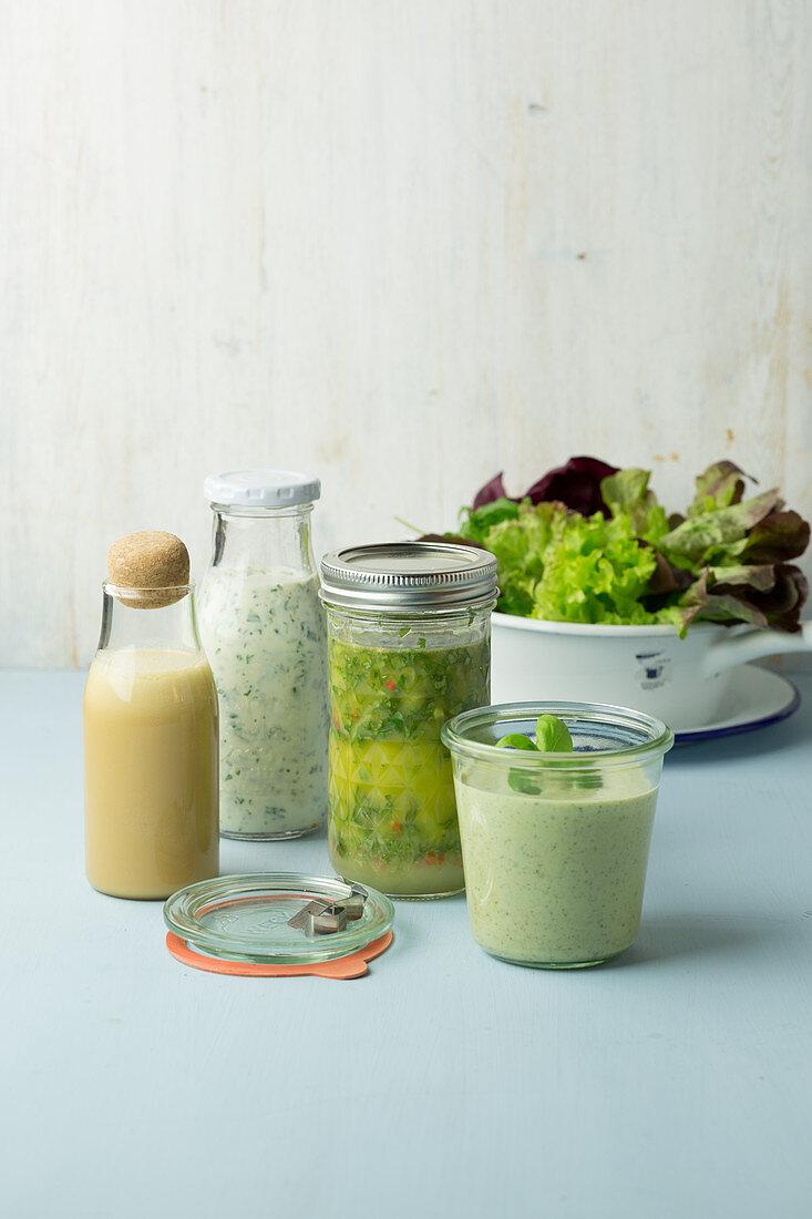Variations of salad dressings