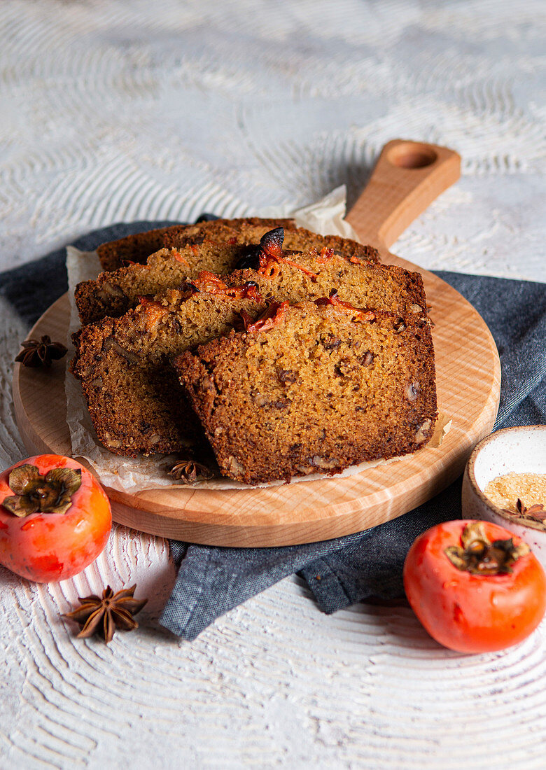 Persimmon loaf cake