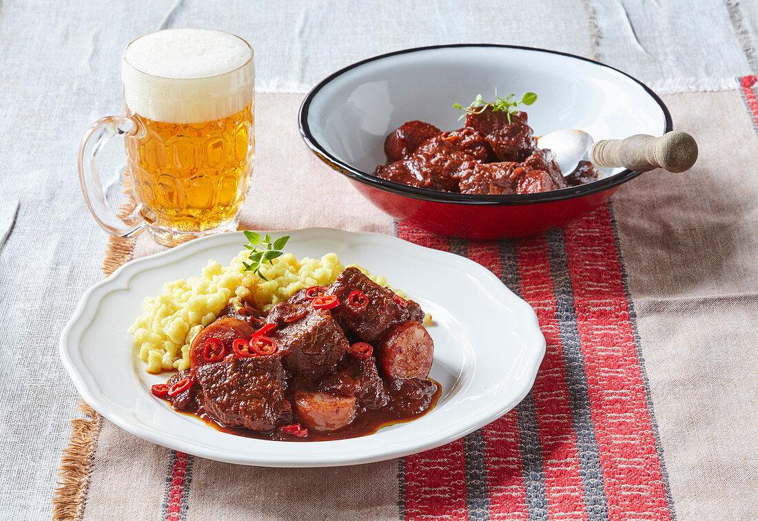 Hungarian beef perkelt (stew)