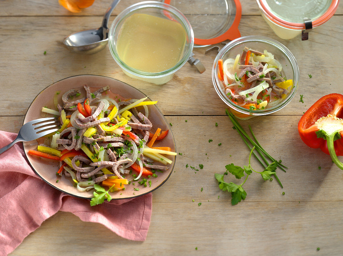 Canned beef salad