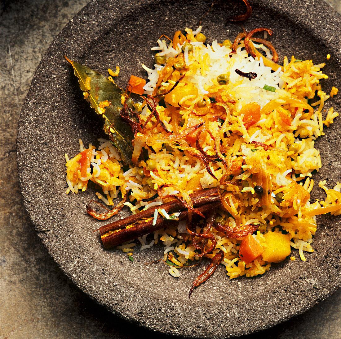 Biryani with vegetables (Asia)