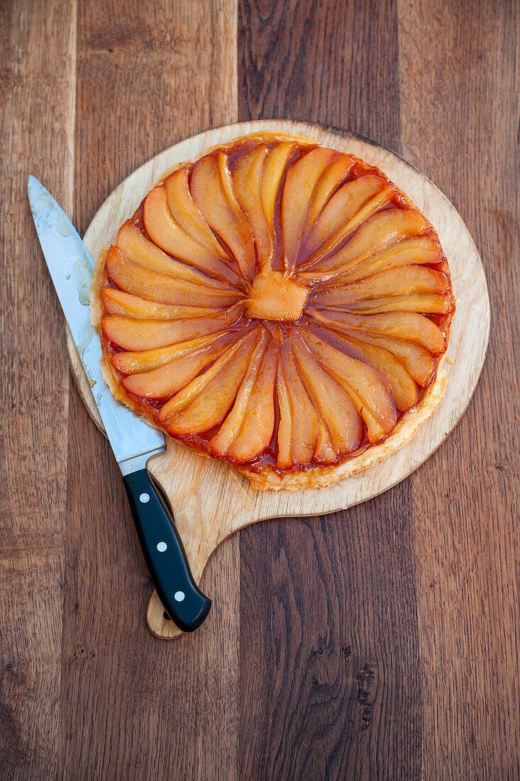 Caramelised pear tart