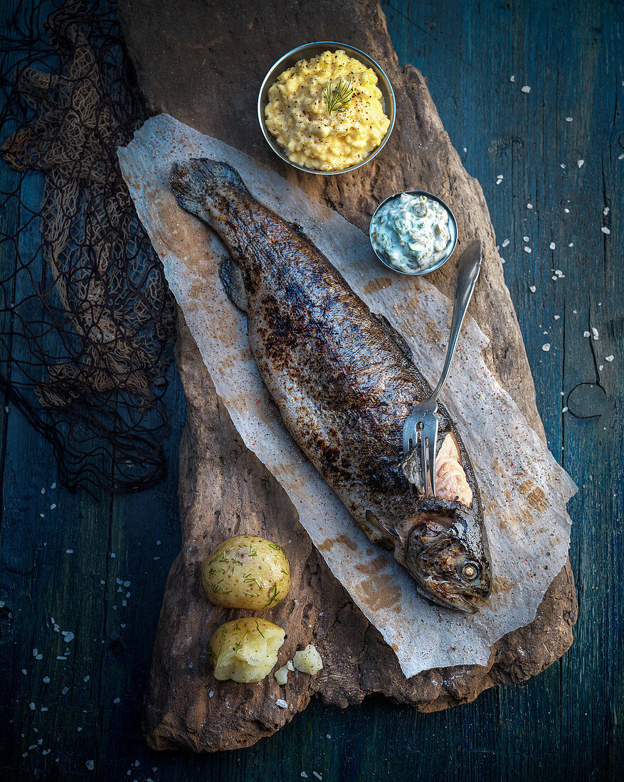 A smoked trout