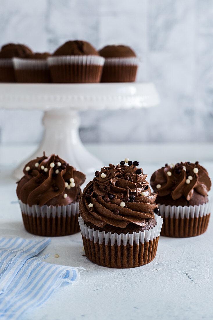 Dark chcocolate cupcakes