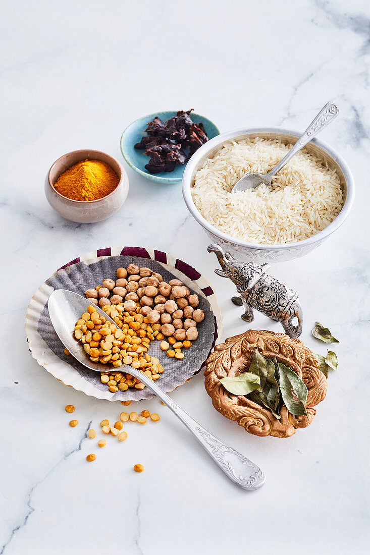 Ingredients for Indian vegan stews