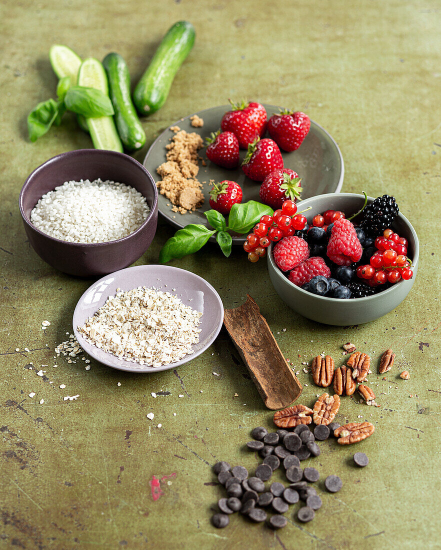 Ingredients for healthy desserts