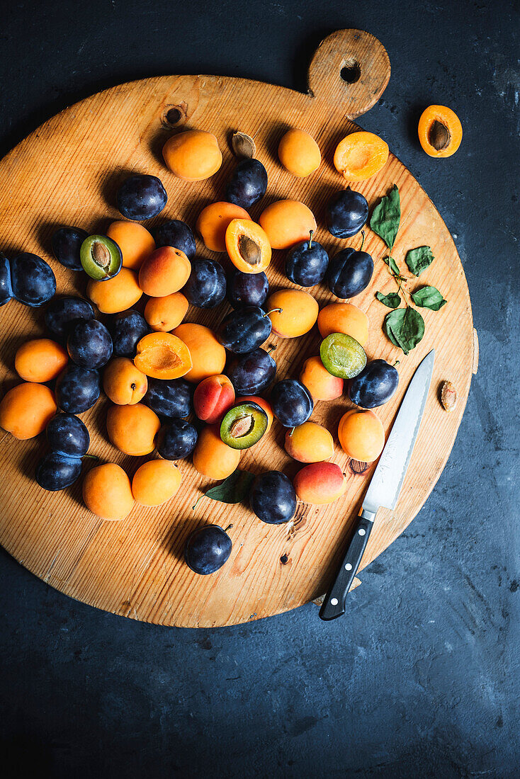 Apricots and Plums