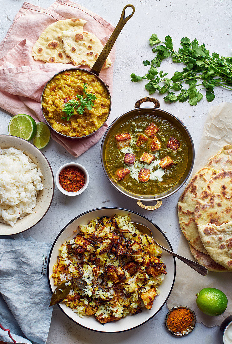 Typical Indian dishes