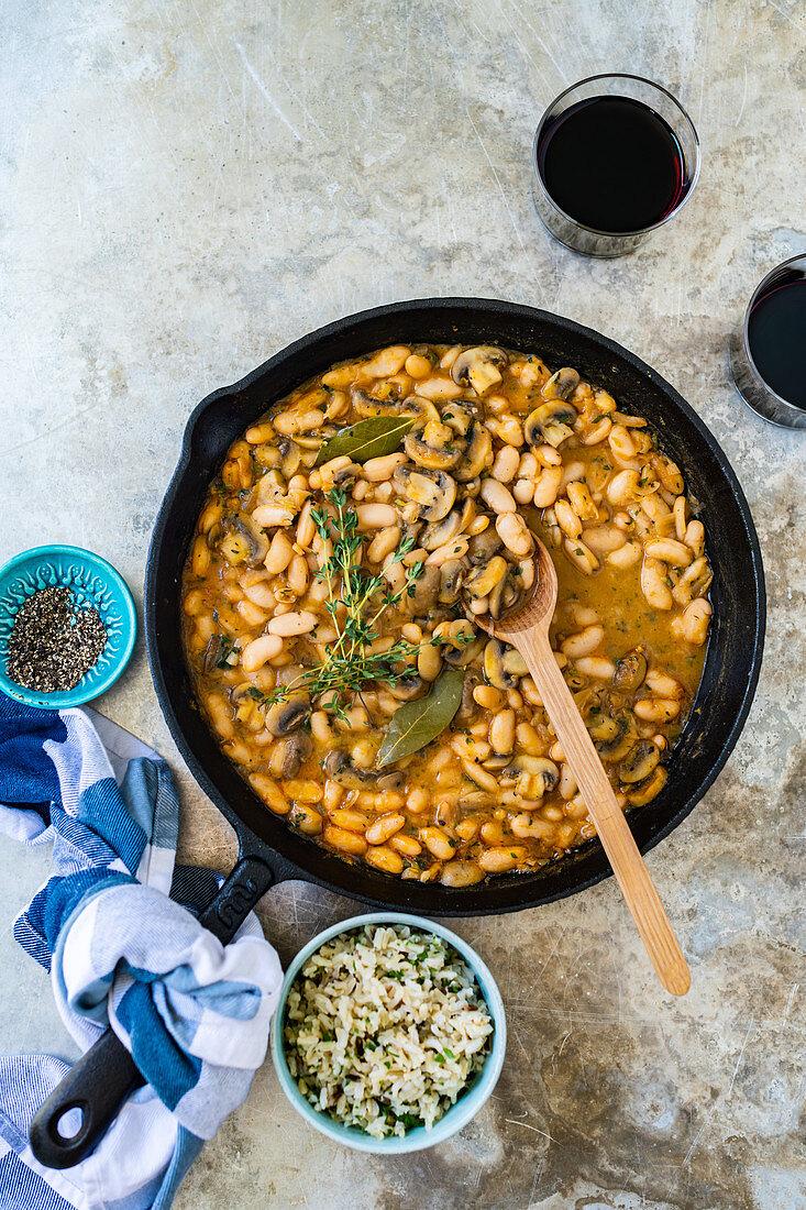 Vegeterian bean cassoulet
