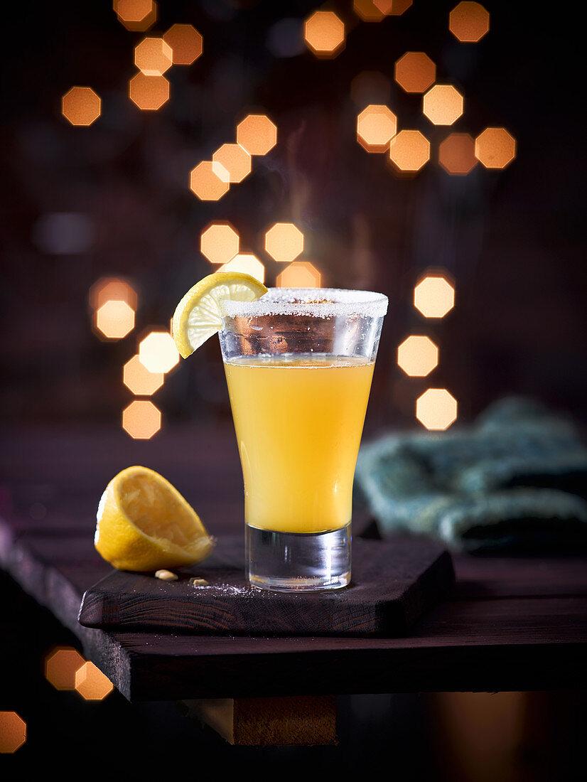 Lemon juice with lemon liqueur