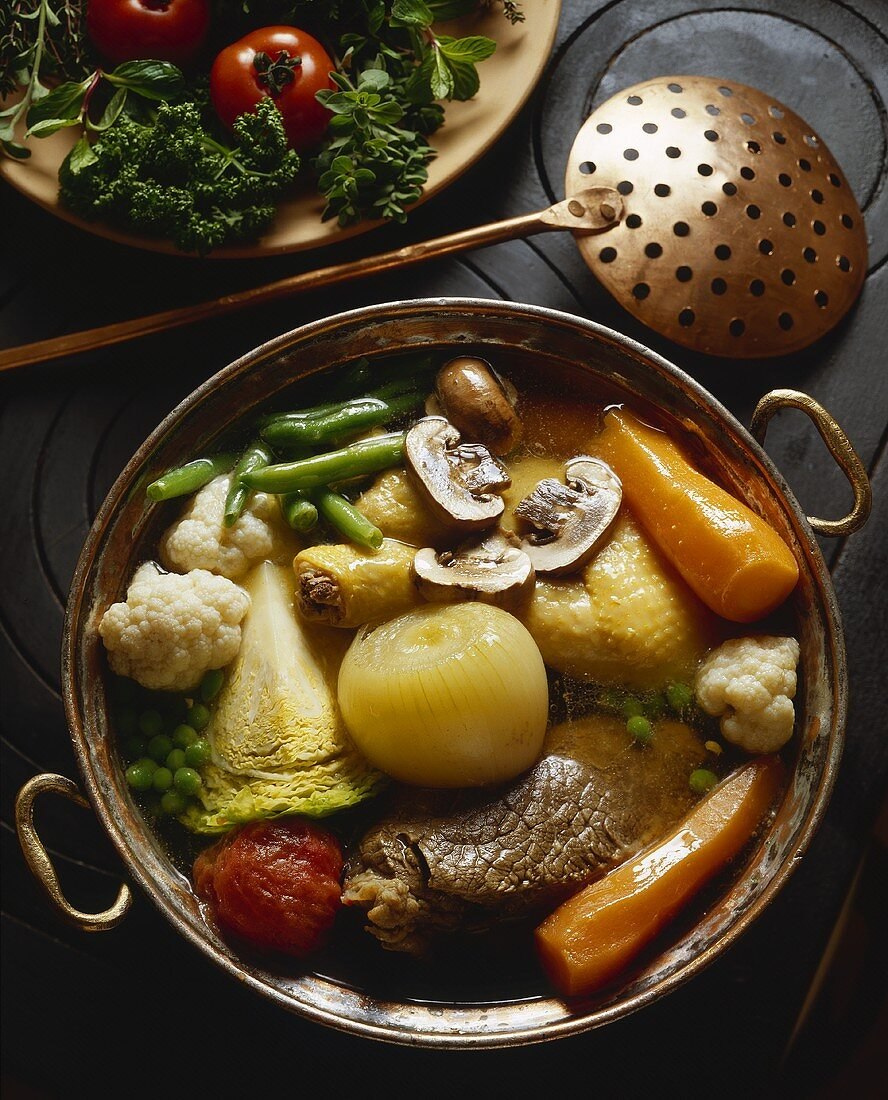 Bollito misto (stew with different types of meat, Italy)