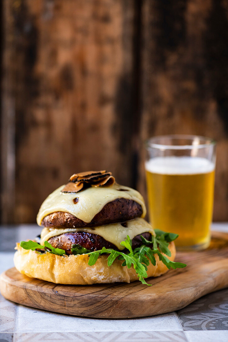 Truffle and emmental burger
