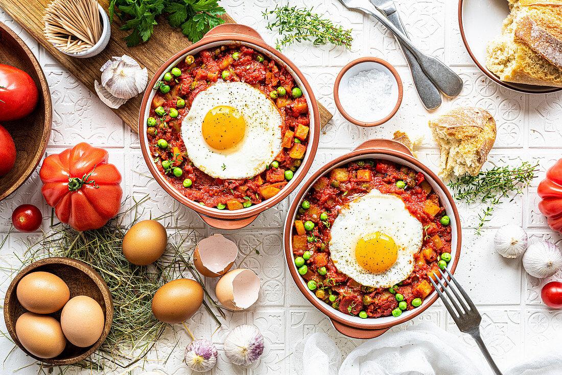 'Huevos a la flamenca' (Flemish-style eggs)