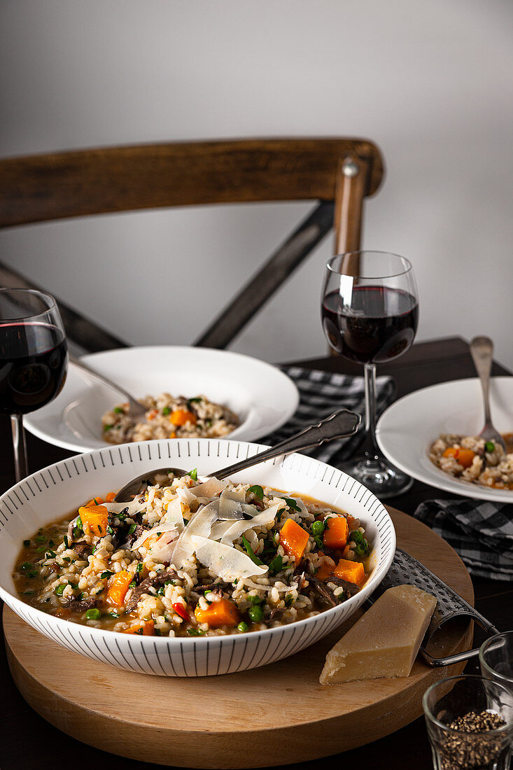 Duck and Vegetable Risotto