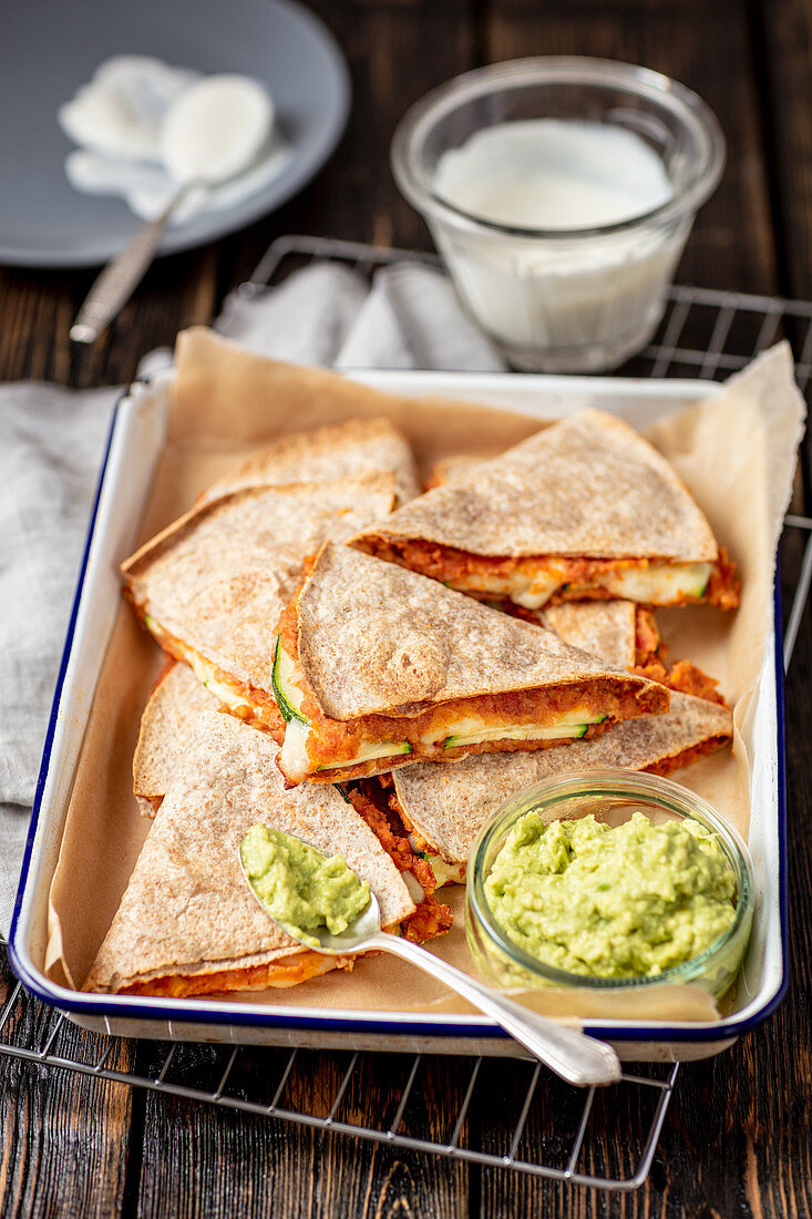 Quesadilla with chickpeas