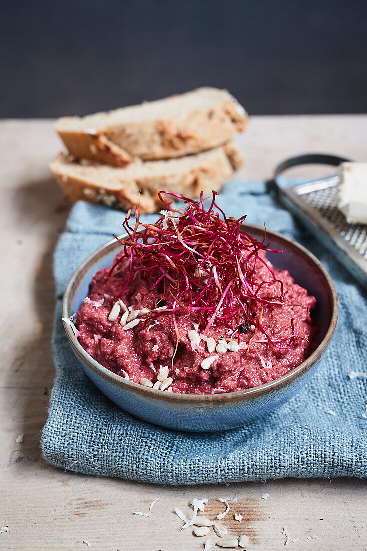 Beetroot and horseradish spread