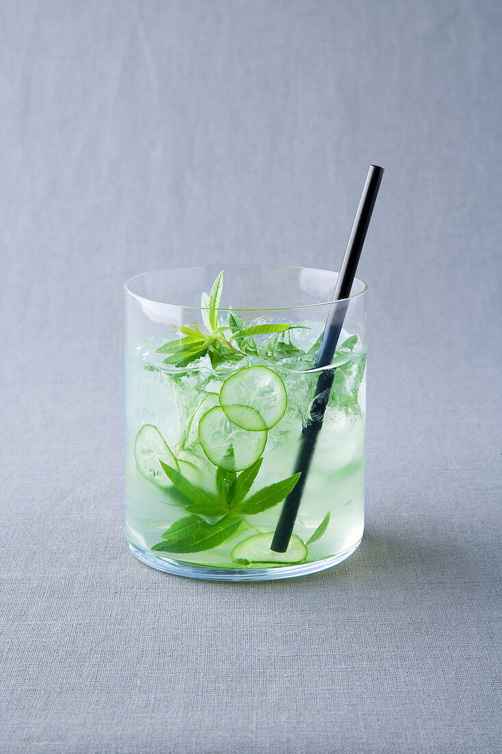 Cucumber and basil cocktail
