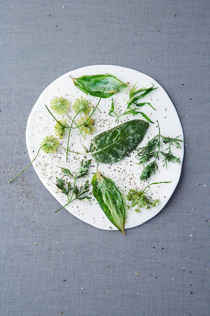 Herb and green tea tempura