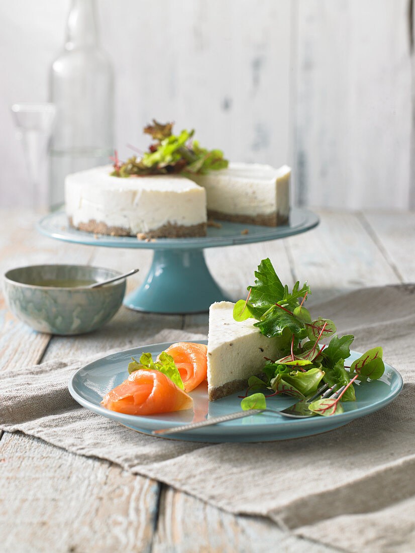 Cheesecake with smoked salmon (Sweden)