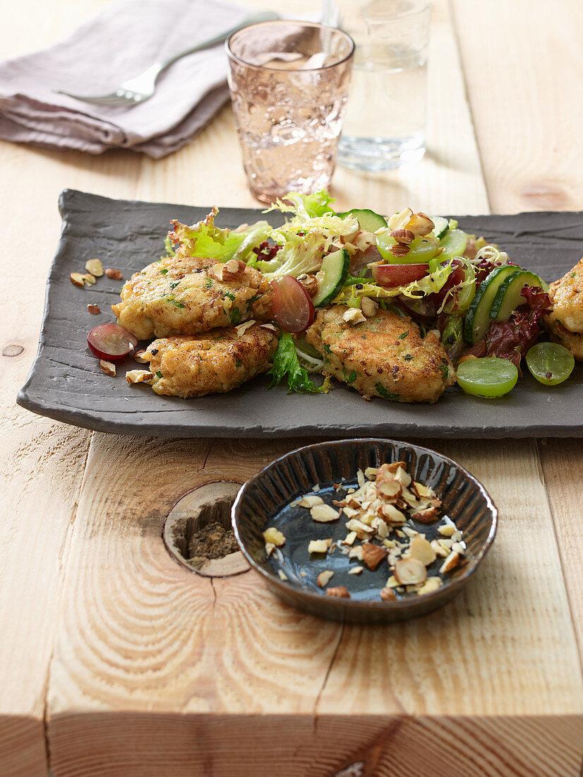 Caprese dumplings with a vintner salad