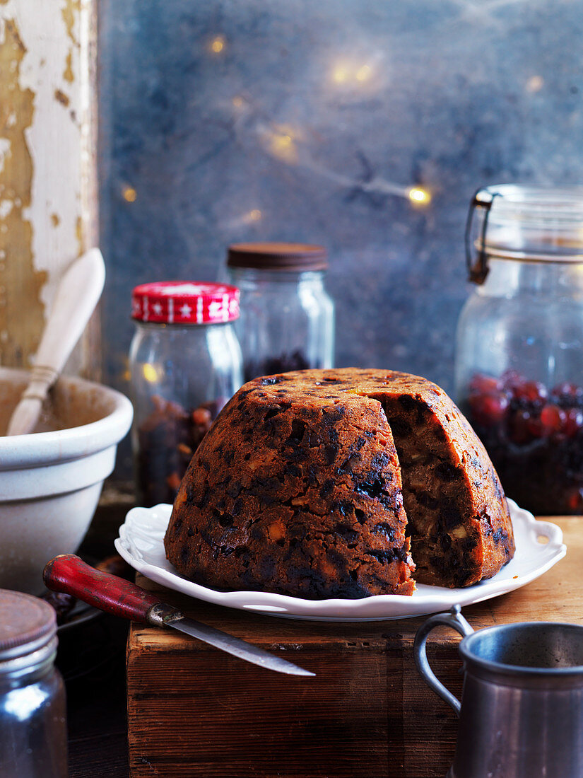 Chocolate stout steamed pudding