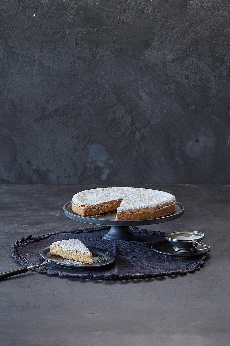 Spanish almond tart